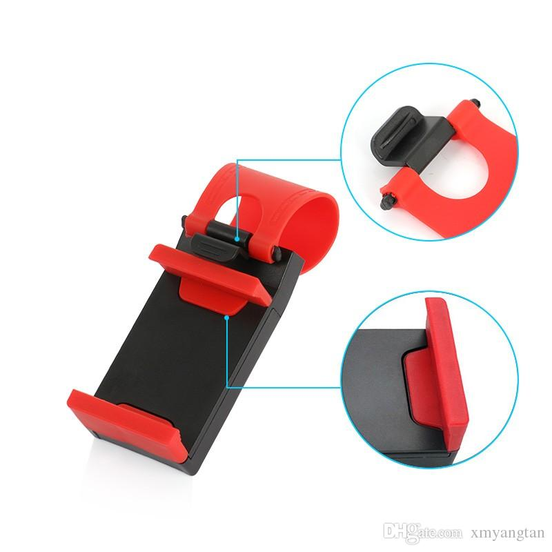 Universal Car Steering Wheel Clip Mount Holder for iPhone 8 7 6s Samsung Xiaomi Huawei Mobile Phone GPS Car Phone Holder