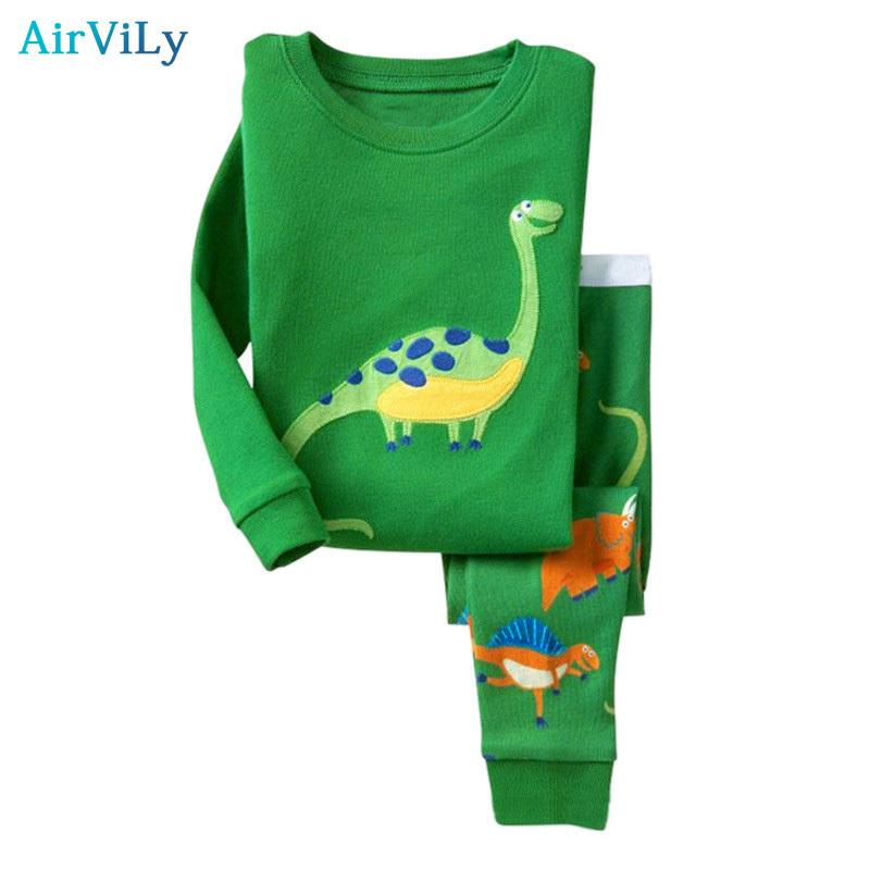 a55da3644 2018 Sale Kids Baby Girls Boys Pajama Sets Dinosaur Sleepwear ...
