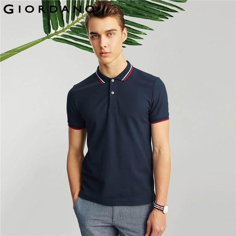 d372a1956a9f 2019 Giordano Men Polo Brand Clothing Short Sleeves Polo Shirt Casual Tops  Camisa Polo Masculina Pique Polos Heather Color Tops From Netecool