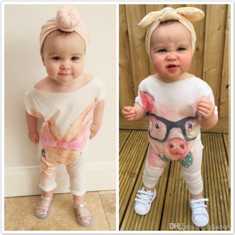 5352533d0fce5 Newborn baby girls animal jumpsuit romper onesies piggy rabbit kids clothes  bodysuit comfy pajamas outfits 0-24M Boutique Clothing