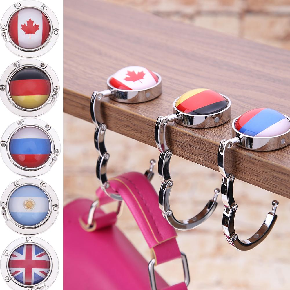 Home Improvement 4pcs Portable Handbag Hanger Purse Hook Handbag Hanger Purse Hook Handbag Holder Shell Bag Folding Table Hook assorted Colors