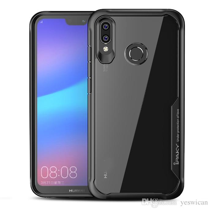 timeless design 1fa27 54a97 iPaky Huawei Nova 3 3i Case Transparent Back Cover PC TPU Hard Soft Cases  Drop-proof Cases With Retail Package Wholesale In Stock