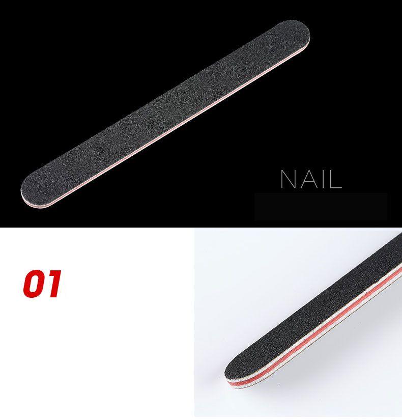 Lima unghie professionale 100/180 con la carta vetrata nera di plastica rossa con bordo smeriglio manicure unghie nail art