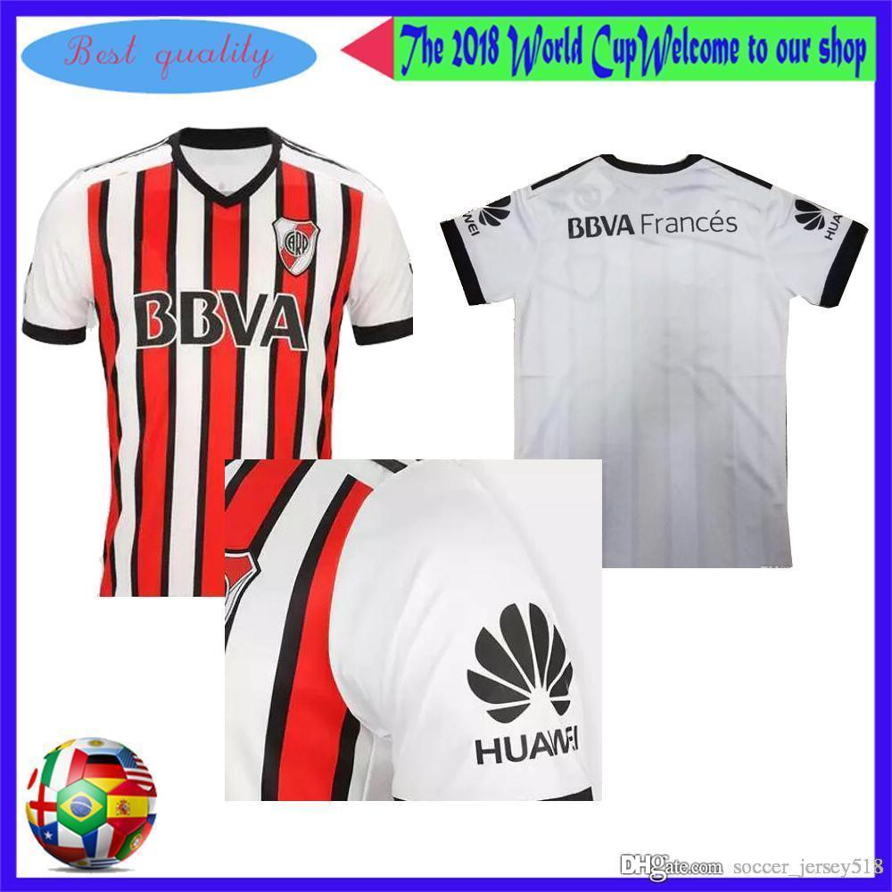 699d94dfc 2017 2018 River Plate Home Wite Soccer Jersey River Plate Away Red ...