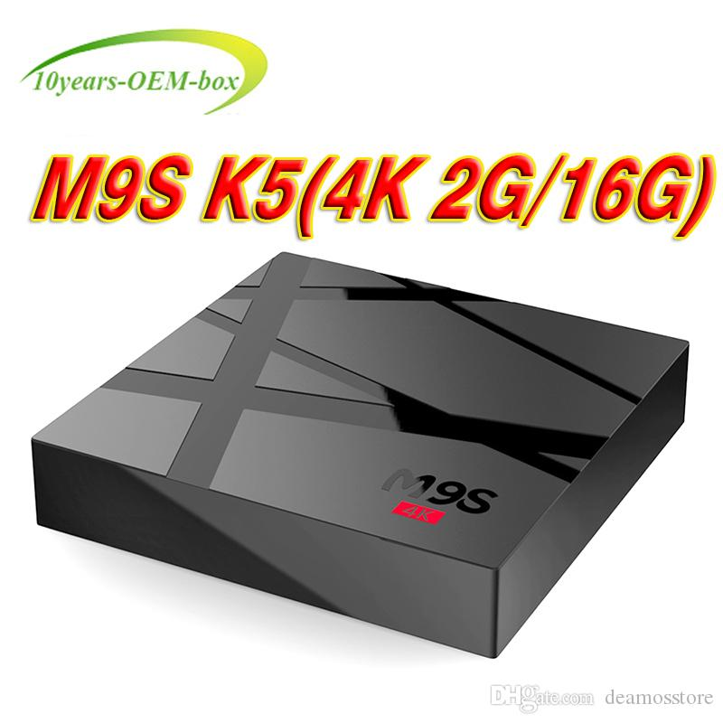 M9S 4K OEM Android TV Box 2GB 16GB Rockchip RK3229 Quad Core 4K WIFI Bluetooth HDMI Media Player TV OTT Set Top IPTV Box
