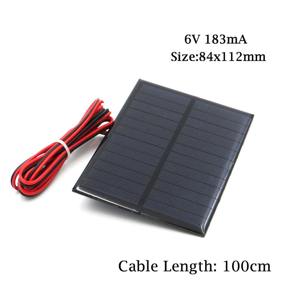 6v Solar Panel With 30 100 200cm Wire Mini System Diy For Cell Wiring Battery Phone Charger 06w 1w 11w 2w 3w 35w 45w Pv Size Of