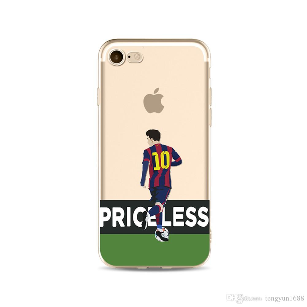 reputable site bb1dd a3483 For Iphone 7/8 Case Football player Design Pattern Clear Transparent  Protective Bumper Tpu Soft Phone Case-10 sizes