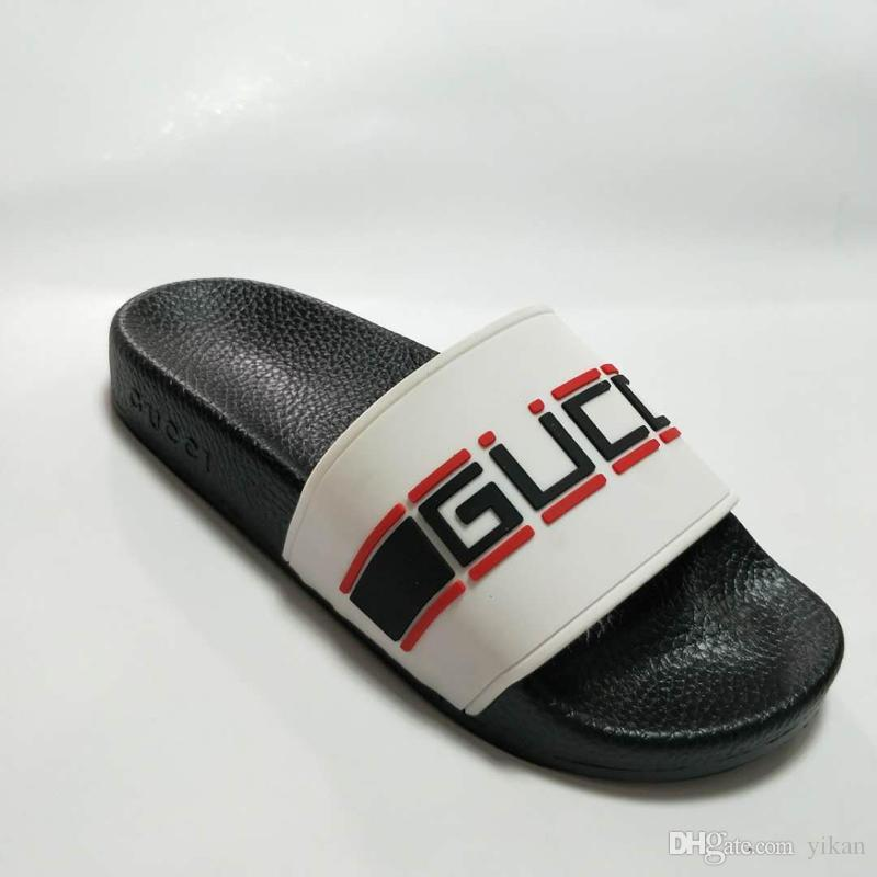 f40c9d39c4e Luxury Brand Slide Sandals Slippers for Men Women Flowers Tigers ...