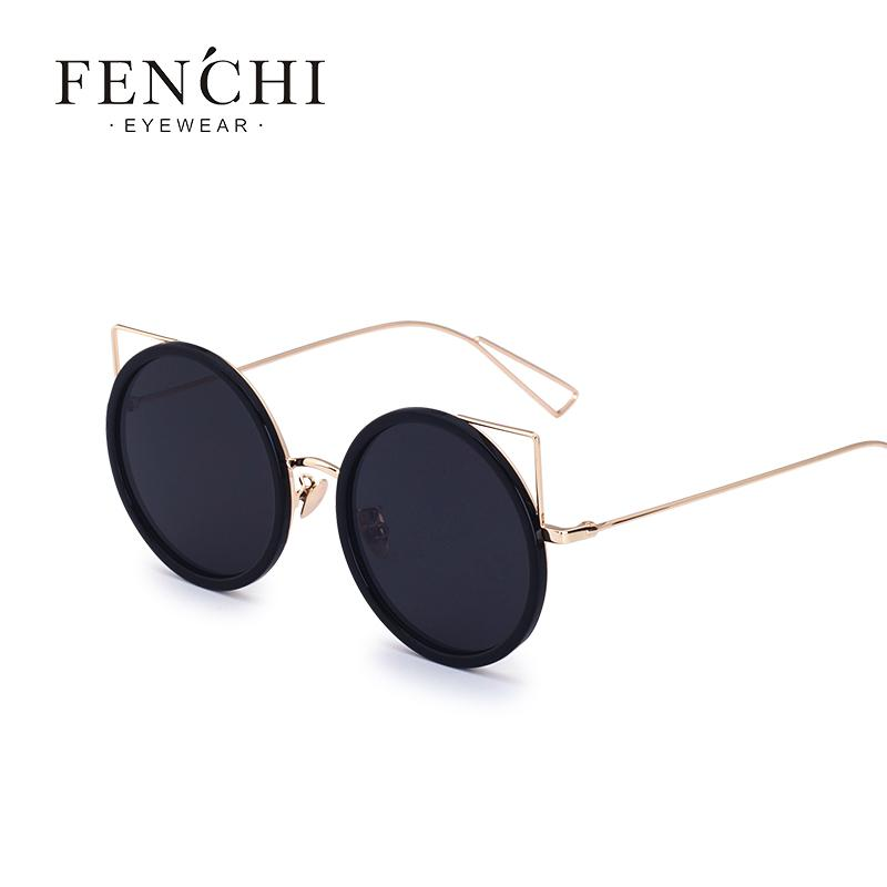 a38044dafa X FENCHI Cat Ear Frameless Round Sunglasses Women Brand Metal Coating  Mirror Cat Eye Glasses UV400 Driveing Cat Eye Sunglasses Round Sunglasses  From Ruiqi07 ...
