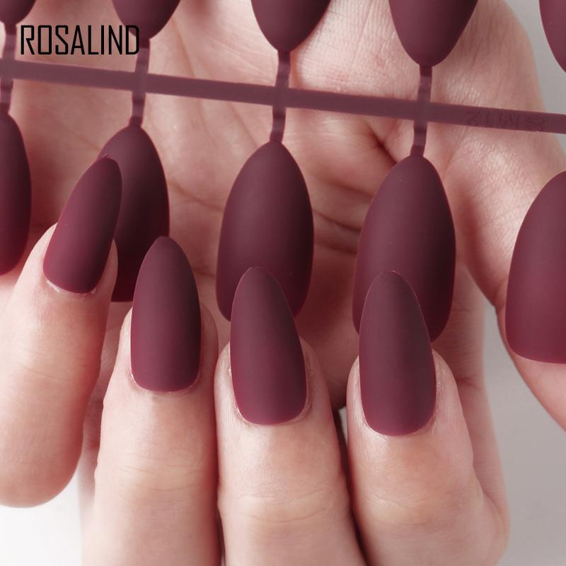 Rosalind Fake Press On Clear Nails Tips Display For Nail Extensions