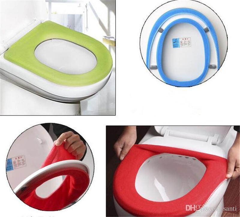 7e4701852b2d Baño caliente para el hogar Cubierta de inodoro suave y suave Asiento Tapa  Pad Baño Closestool Protector Accesorios de baño Conjunto Asiento del ...