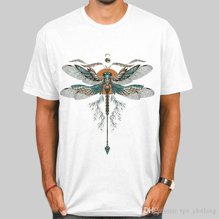 38cb1a1a Dragonfly T Shirt Nice Skimmer Short Sleeve Gown Anti Pilling Tees Unisex  Clothing Quality Modal Tshirt Funny T Shirt Prints Funky T Shirt Designs  From ...