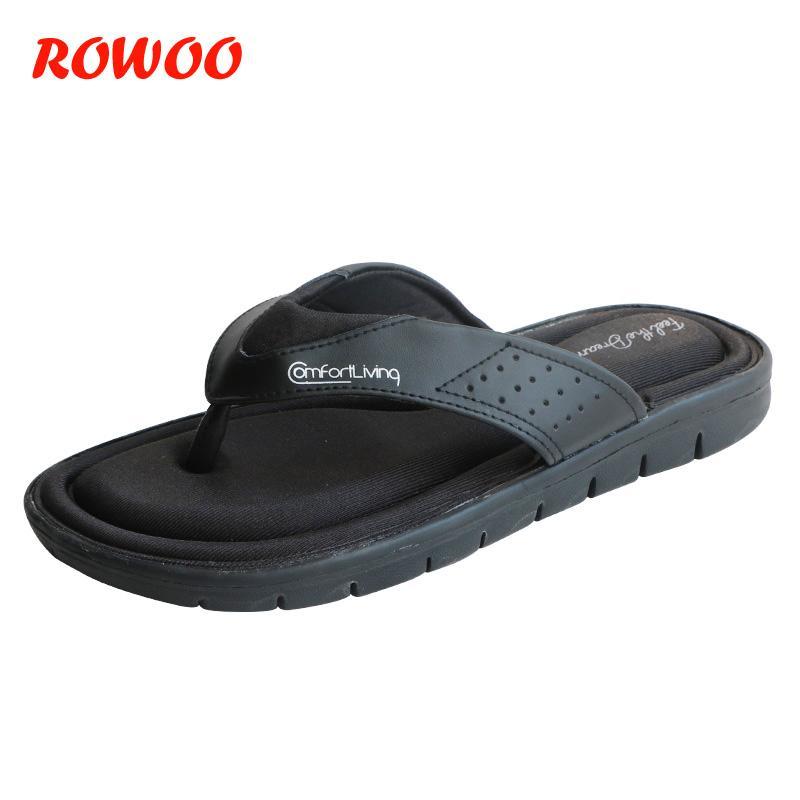 8bc68b0c9 2018 Summer Fashion Mens Flip Flops Anti Slip Black Male Sandals  Comfortable Classic Beach Slippers For Men Slides Flip Flops Knee High  Boots Womens Shoes ...