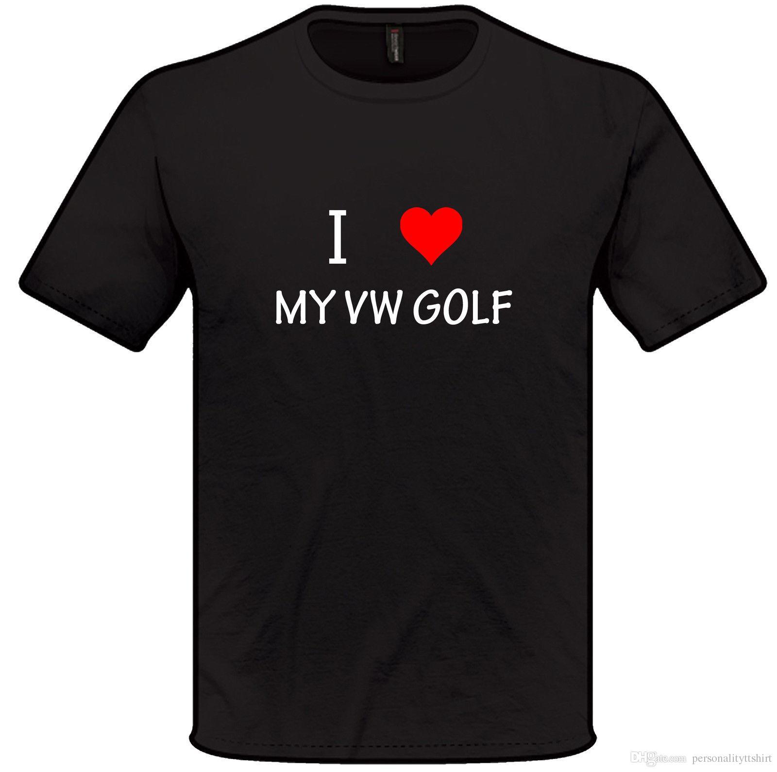 Großhandel Ich Liebe Herz Mein Vw Golf T Shirt S Xxl Volkpppppen