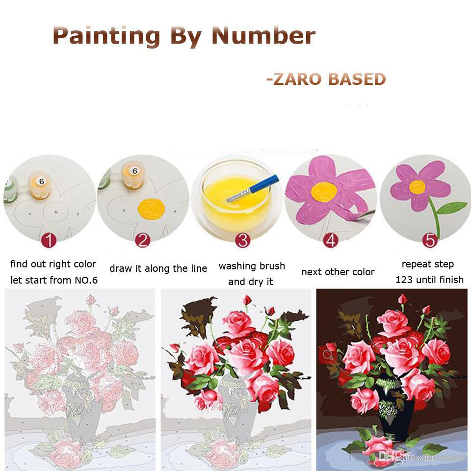 For Zero Diy Oil Acrylic Paint Drawing On Canvas Painting By Number