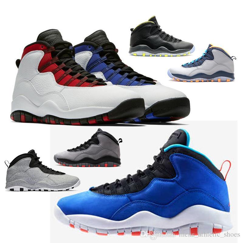 on sale c1caf 53b8d Acheter Air Jordan 10 2019 New Tinker 10s Cement Chaussures De Basketball  Pour Homme 10 Westbrook Classe De 2006 Furtif Gris Acier Je Suis De Retour  Racer ...