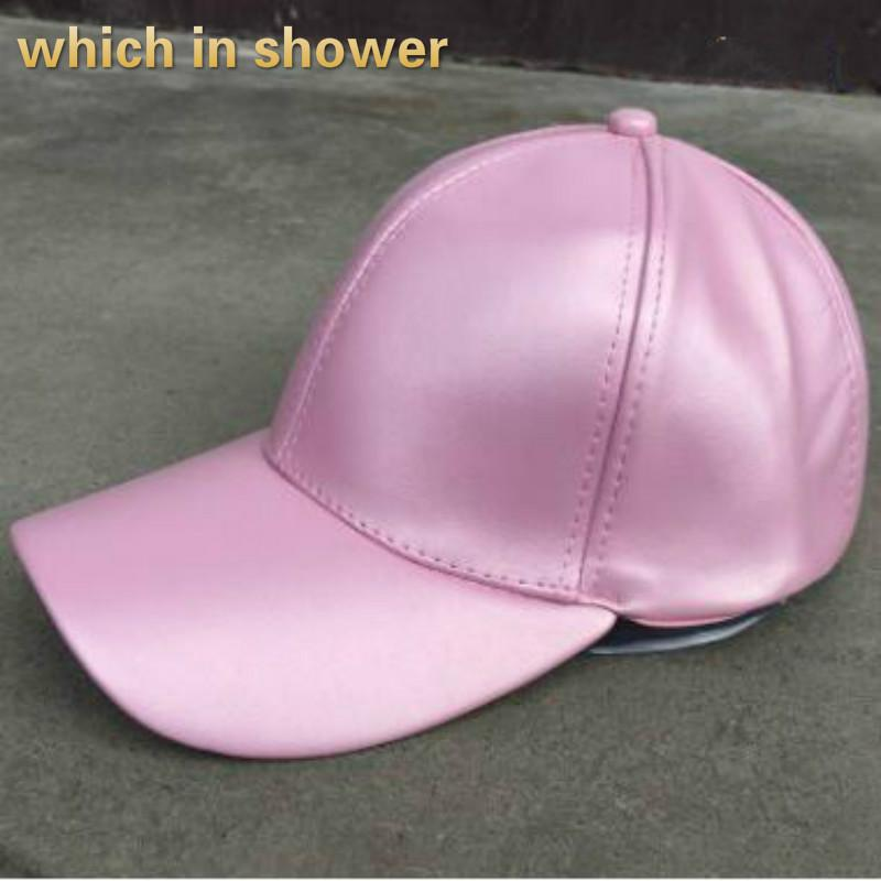 9fb85890d12 Solid Blank PU Baseball Cap Hip Hop For Women Or Men Adjustable Plain Faux  Leather Snapback Hat Spring Autumn Female Cap Bone Ball Cap Wholesale Hats  From ...