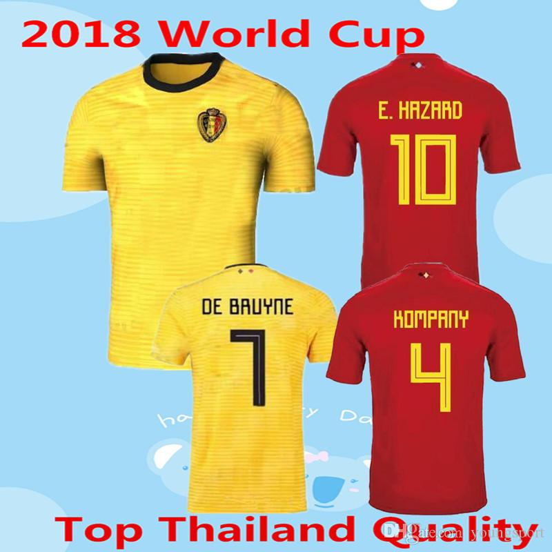 Belgium Soccer Jersey 2018 World Cup Home Red Away Amber R.LUKAKU E ... 9472ea0a2