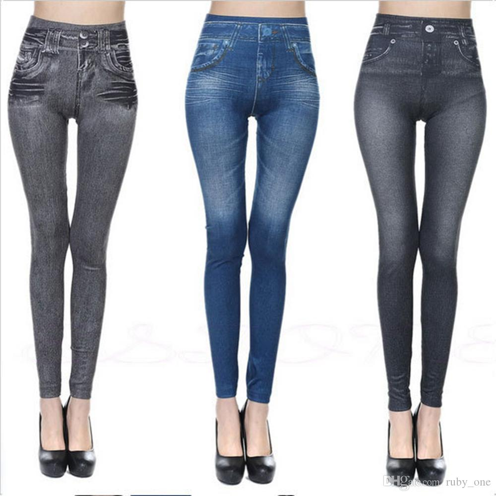 f6b9b792a5a Jean Skinny Jeggings Women Stretchy Denim Pants Leggings Jeans Pencil Tight  Trousers Slim Leggings AAA187 Shaper Leggings Shapewear Pants From  Ruby one