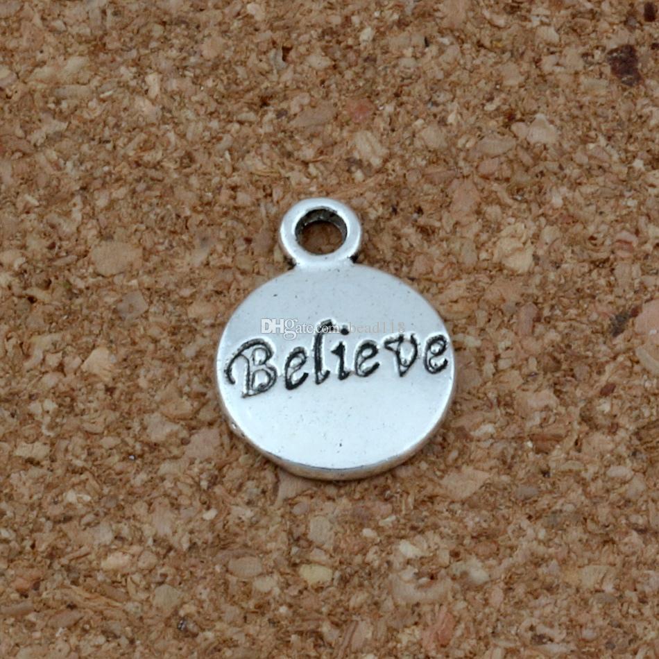 Надежда Верить Вере Веры Иисуса Подвески Подвески 100 Шт. / Лот 11.5x15.5 мм Старинное Серебро, Ювелирные Изделия DIY Fit Браслеты Ожерелье Серьги A-23