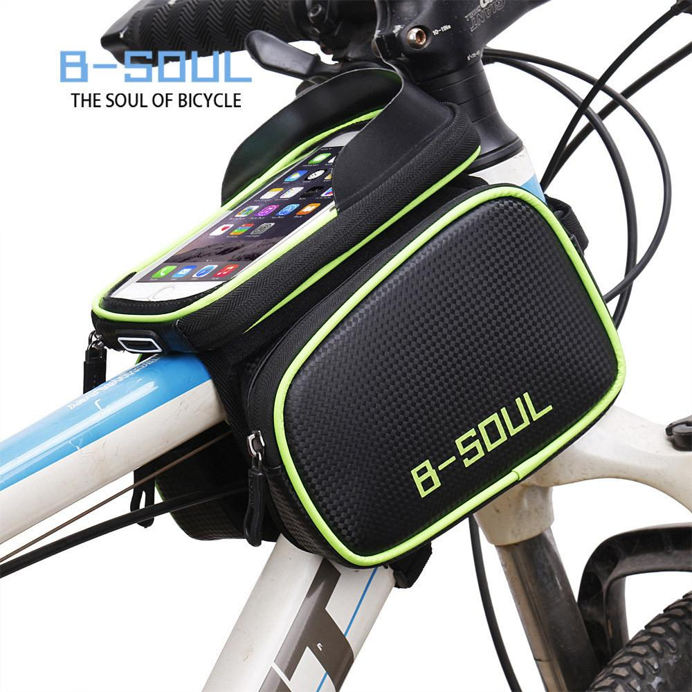 Cycling Bicycle Bike Frame Pannier Saddle Front Tube Bag Double Pouch Bag Holder