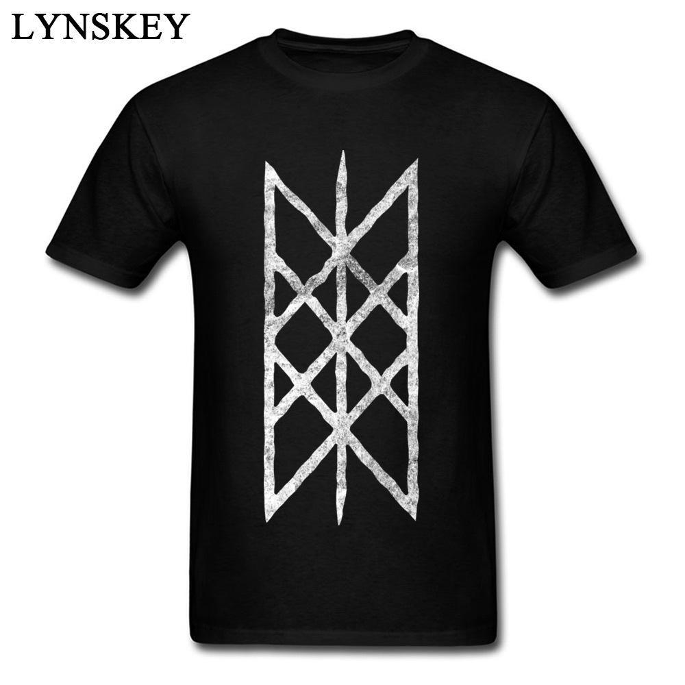 9eb6381d63fb Web Of Wyrd White Rune Halftone Men Geometric Pattern Printed Top Tee Shirt  Black T Shirt Short Sleeve Simple Awesome Cheap T Shirts Online Shopping  For T ...