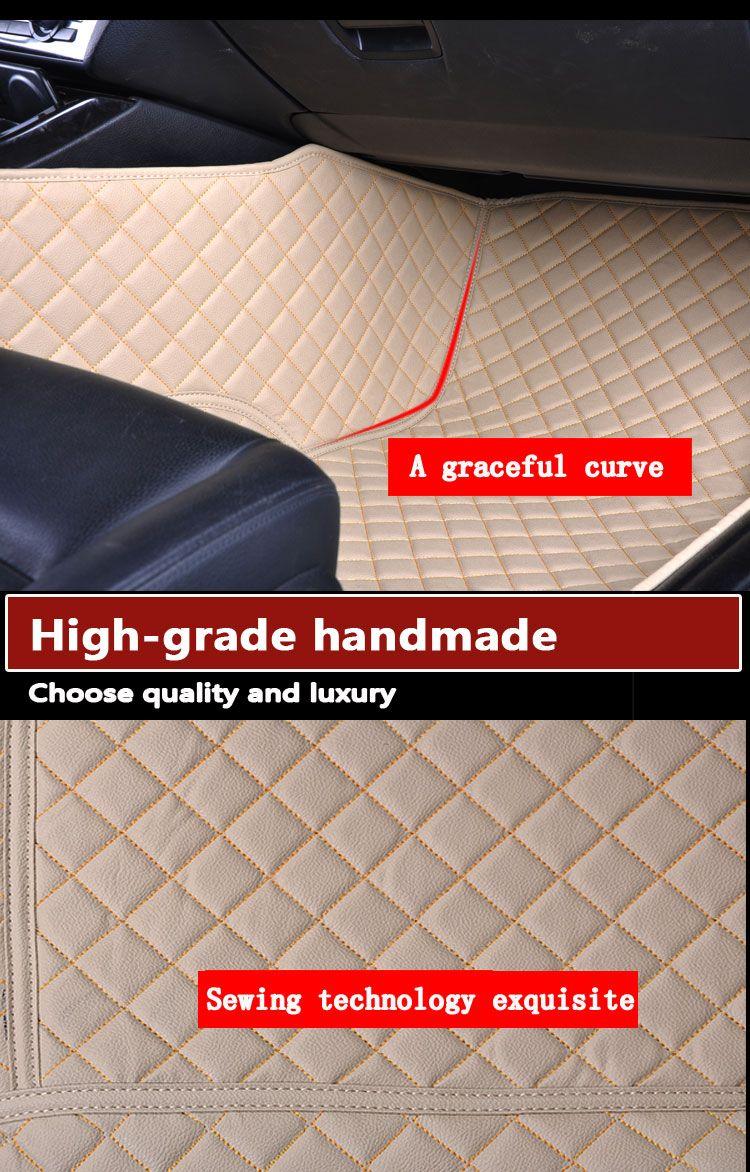 Wholesale custom car floor mats for audi a5 b9 2006 audi a3 2010 audi s4 s5 luxury 3d leather car floor mats waterproof fit dust-proof