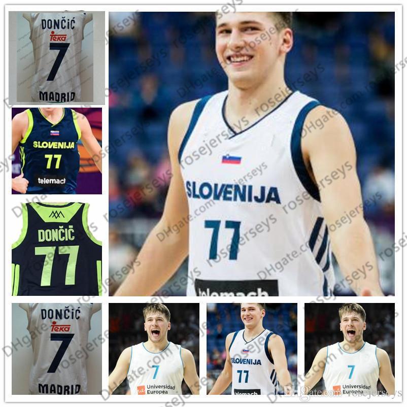 e99043207 Men s Slovenija  77 Luka Doncic 2018 Draft Jersey  41 Dirk Nowitzki ...