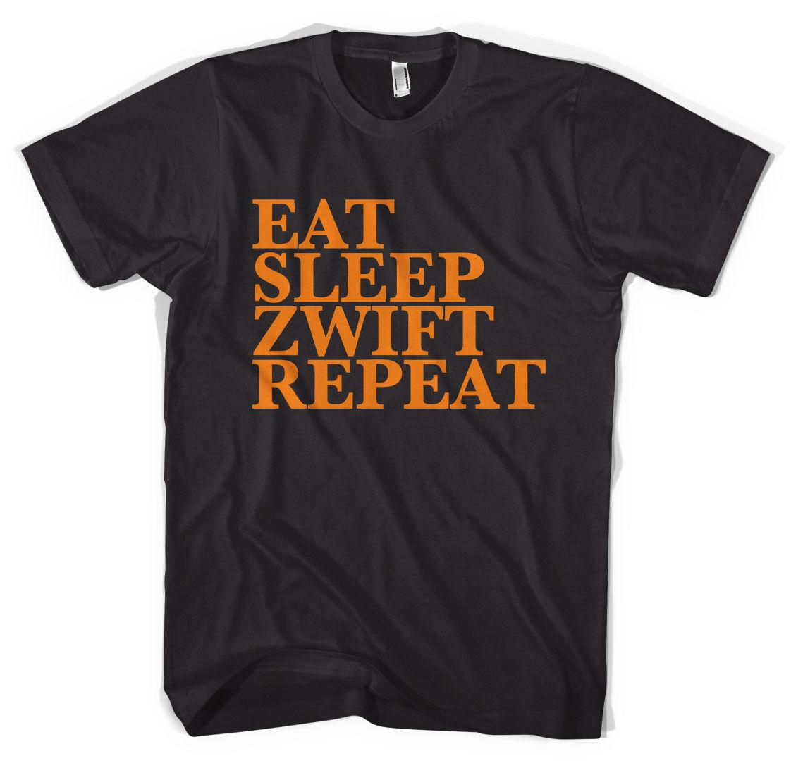 Eat Sleep Zwift Repeat Cycling Strava Unisex T-Shirt All Sizes Funny free  shipping Unisex Casual