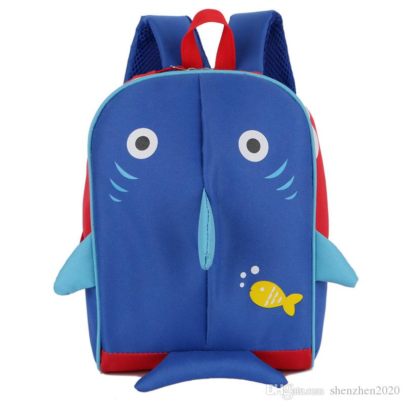 da8a582f04 Fashional Cartoon Animal 3D Printed Shark School Bag Children Pink ...