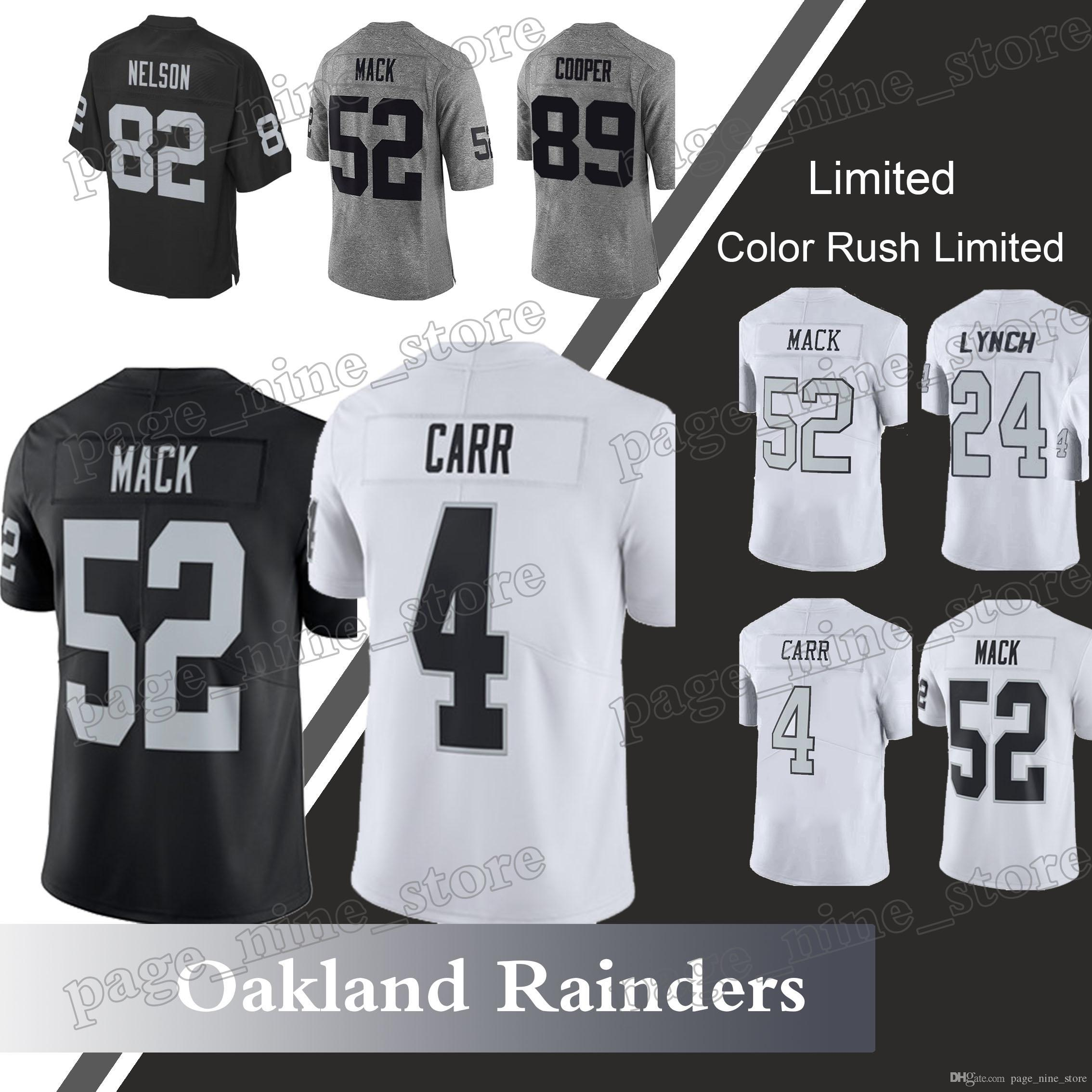 b0e043775 Oakland Rainders 82 Jordy Nelson Jersey 4 Derek Carr Jerseys 24 ...