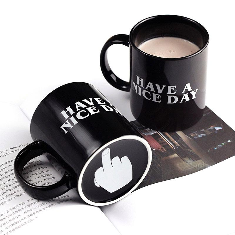 1b84f00bf99 2019 Creative Have A Nice Day Coffee Mug 350ml Funny Middle Finger Cups And  Mugs For Coffee Tea Cup Novelty Birthday Gifts From Dh_home_garden, ...