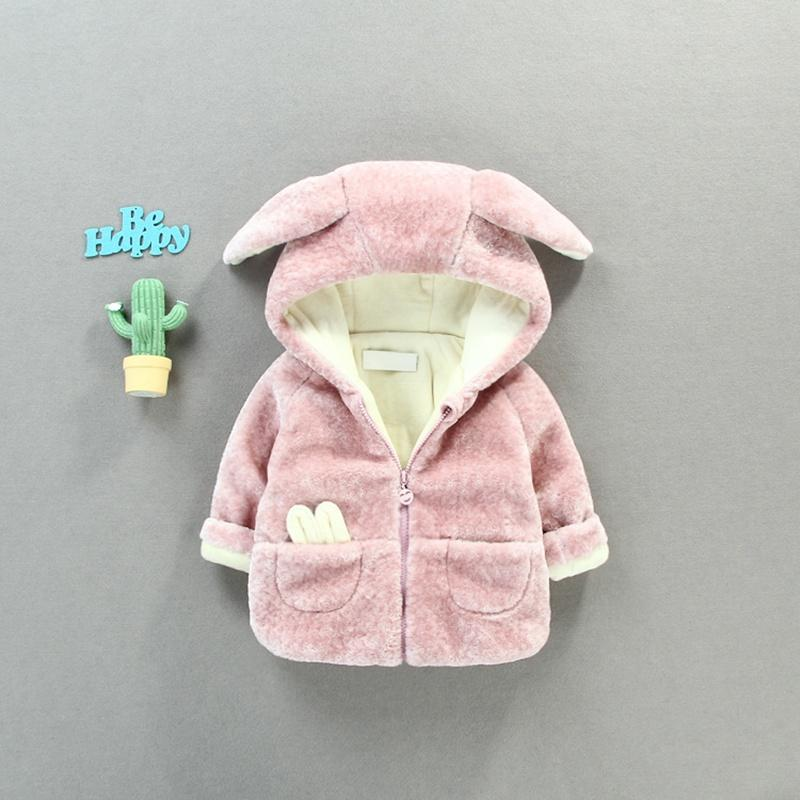 f971007d0952 Children Warm Winter Baby Girls Infants Kids Fleece Ear Hooded ...
