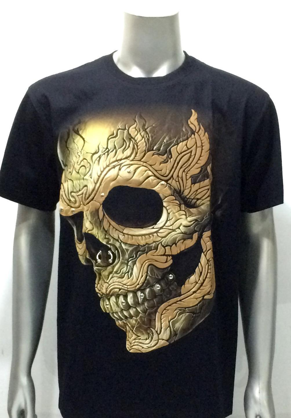 T Shirt Glow In Dark Skull Ghost Demon Men Casual New Men S Fashion