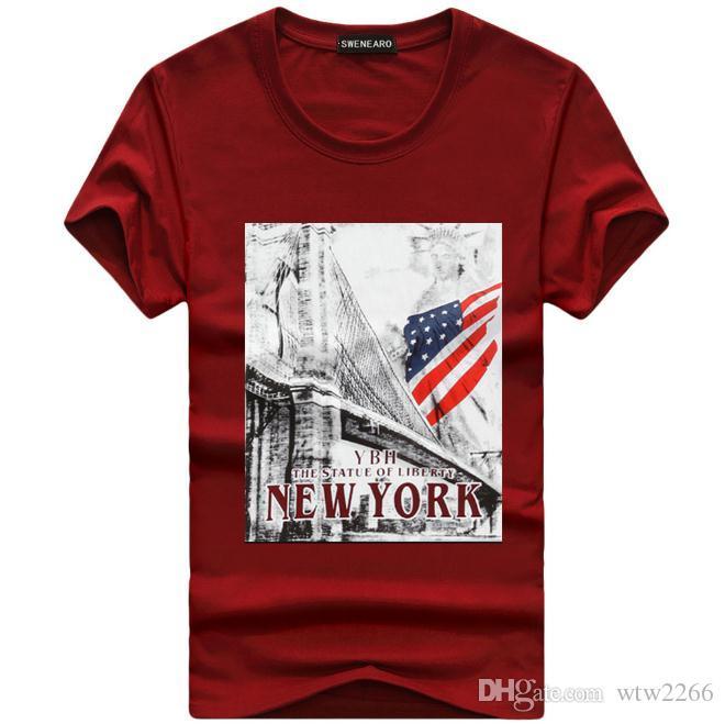 Expressive Brand Fashion T Shirts Men Cotton Short Sleeves T-shirt Casual Printed T Shirt 4 Colors S-5xl Tops & Tees