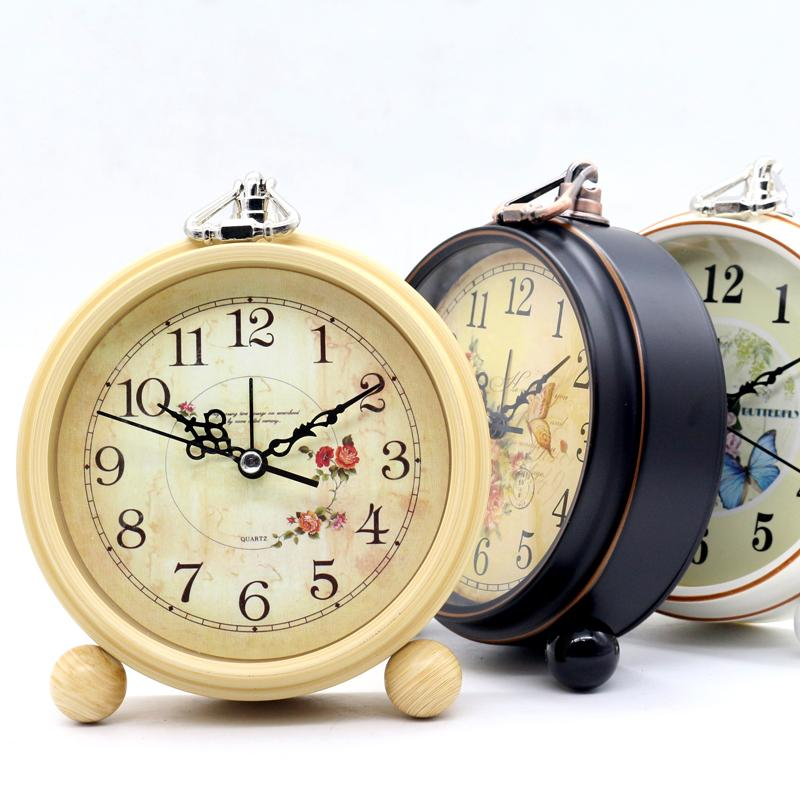 2019 Vintage Clock European Rural Creative Clock Mute Students