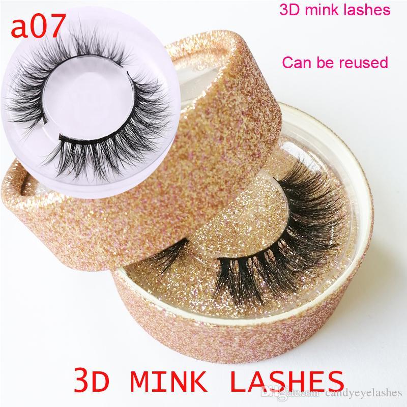 1f25efcb95 3D Mink Lashes Black Natural Thick Mink Eyelash Soft Long Handmade ...