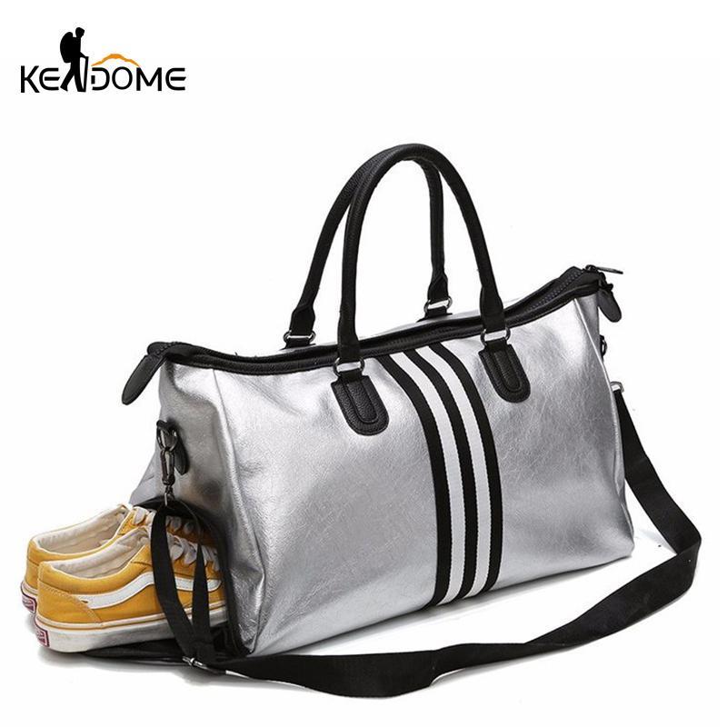 4855e2ed7f66 2019 PU Leather Sports For Fitness Yoga Bags Women Travel Sport Handbag  Crossbody Waterproof Training Gym Bags Shoes Storage XA932WD From Fwuyun