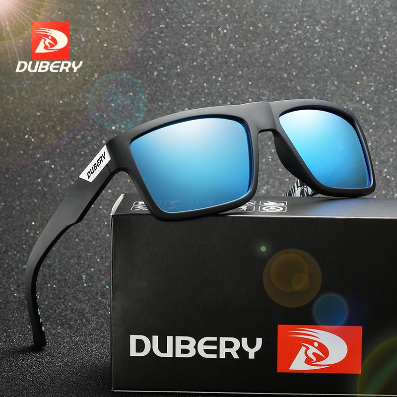 49dbc417f0e41 DUBERY Square Mirror Summer UV400 Brand Design Polarized Sunglasses Men s  Driver Shades Male Vintage Sun Glasses For Men Oculos Fastrack Sunglasses  Smith ...