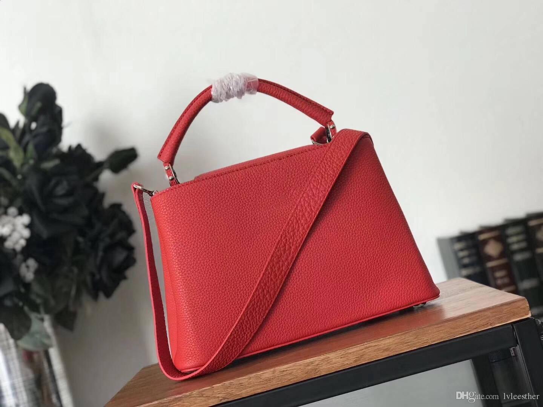 f144d042bb 7colour Size 27 21 10cm Women Handbags Top Quality Genuine Taurillon Leather  Handbags Large Tote Bag Handbag Women M48864 M94755 M44199 Leather Bags For  Men ...