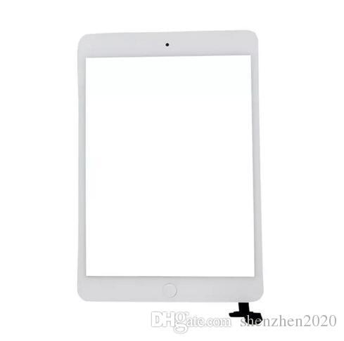 100% novo painel de vidro da tela de toque com digitador com ic conector de botões para ipad mini 2 bom