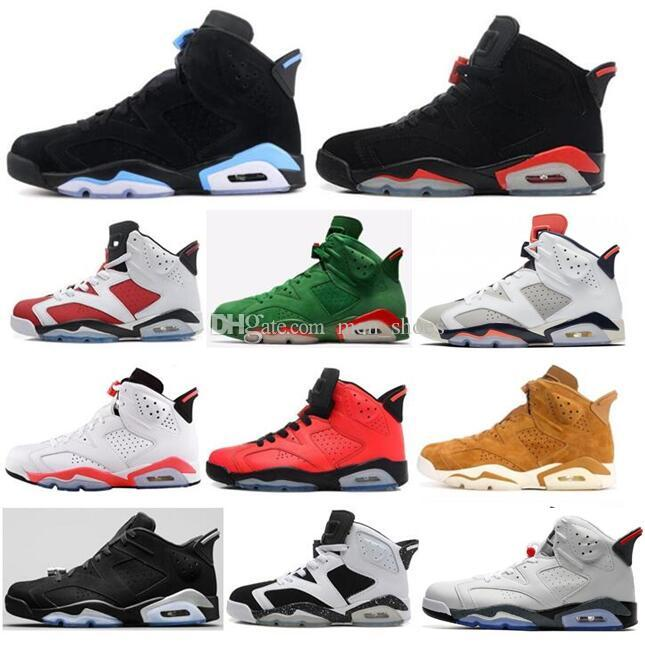 3dd7908a518 High Quality 6 University Blue UNC White Infrared Chrome Men Basketball  Shoes 6s Gatorade White Cement Golden Harvest Sneakers With Box Designer  Shoes ...