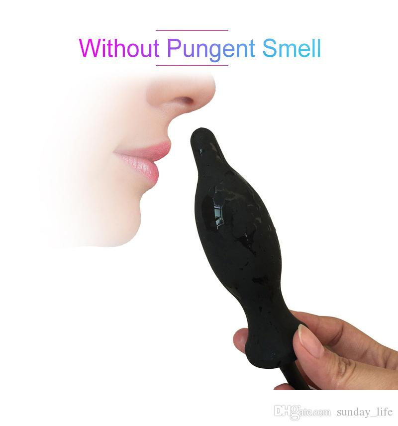 Dult Diario de Silicona Inflable Plug Anal Dilatador Anal expandible Butt Inflable Plug Anal Dildo Juguetes Sexuales Para Mujeres Hombres Gay