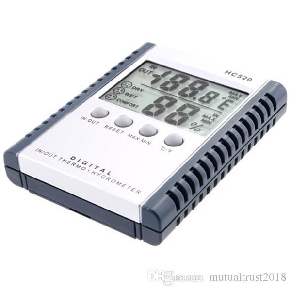 Цифровой термометр гигрометр ЖК-дисплей температуры влажности метр для крытый открытый HC520 в розничной упаковке 100 шт.