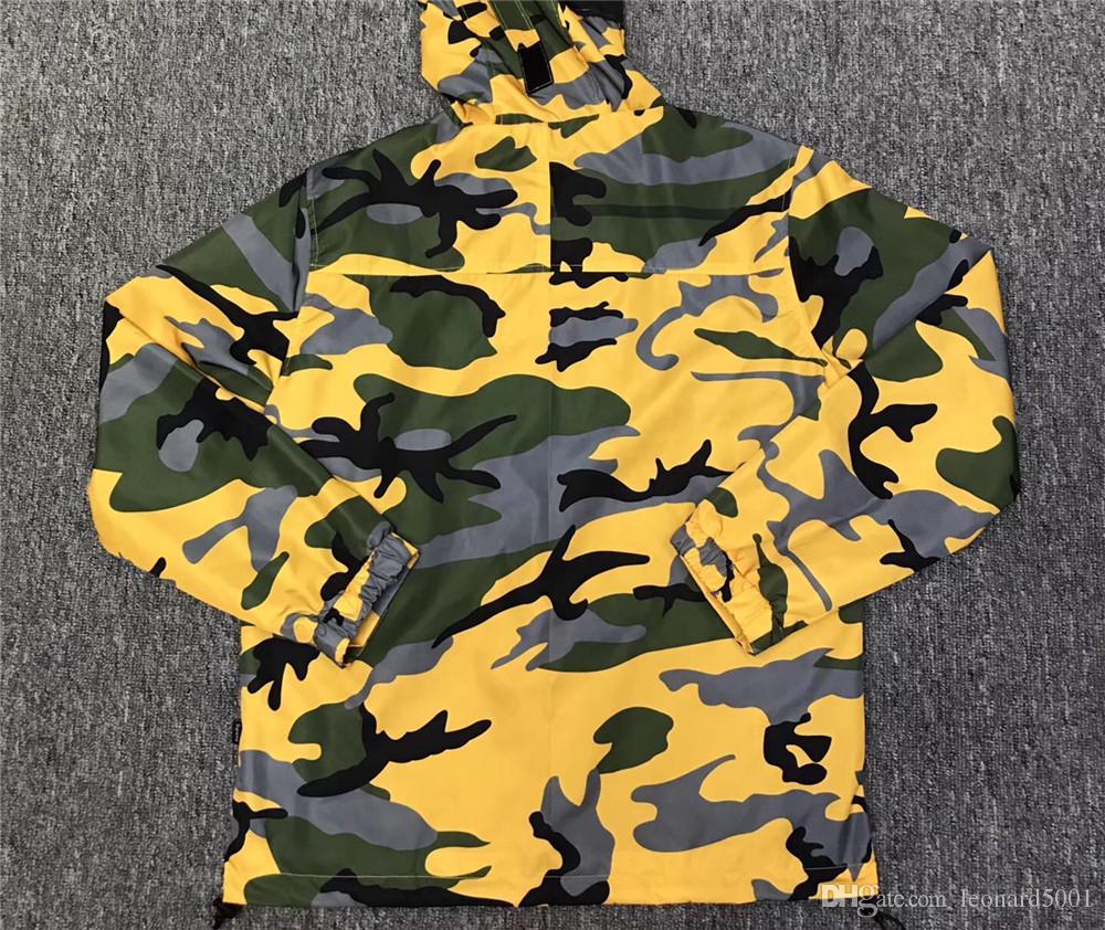 Veste camouflage homme jaune