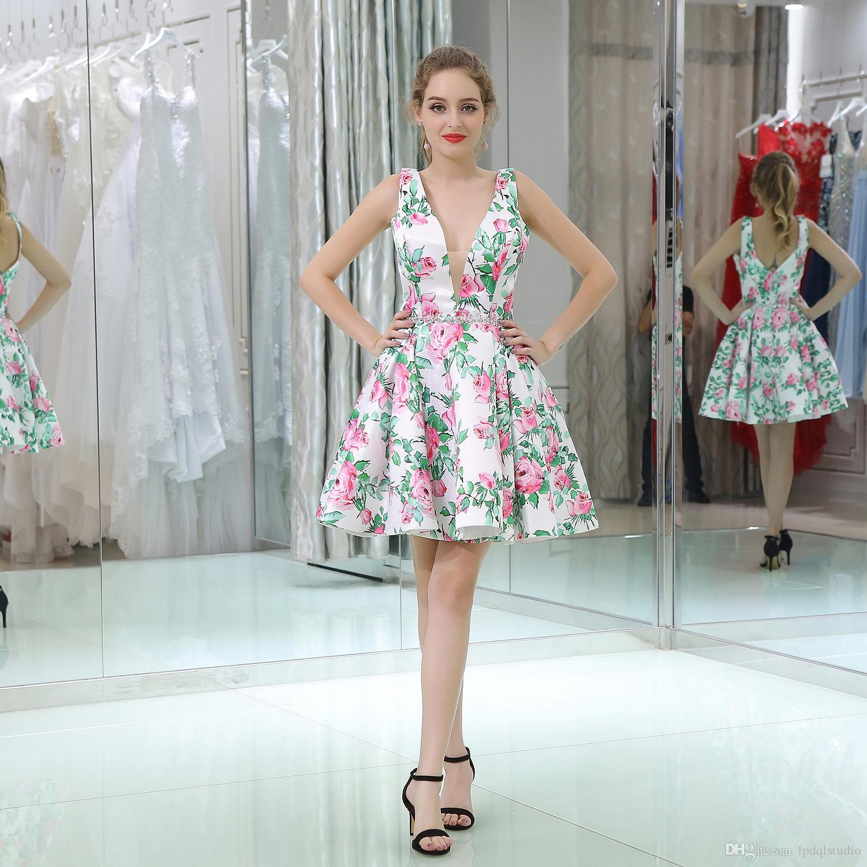 Colorful Knee Length Dress