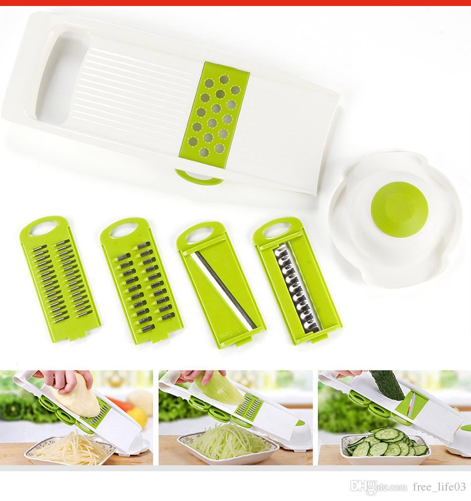 Multi Vegetable Slicer Stainless Steel Cutting Vegetables Grater ...