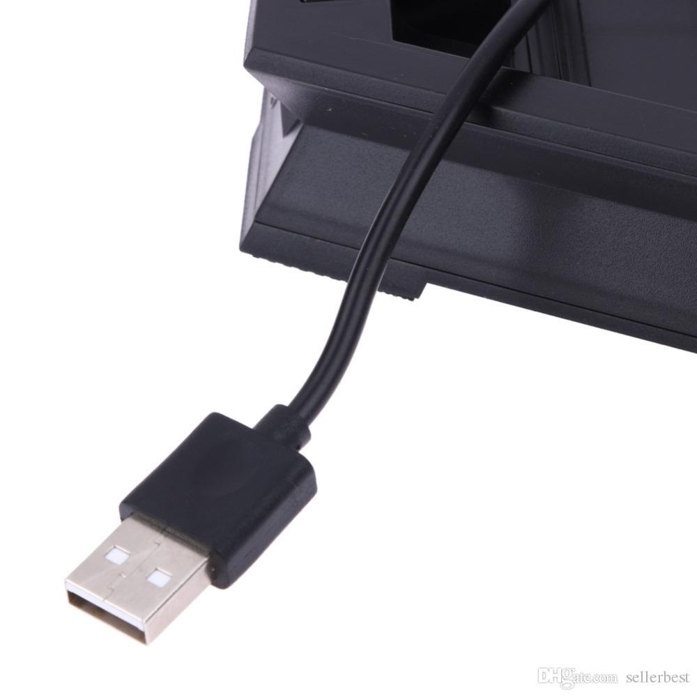 VODOOL USB Dual-Lüfter Ladestation Vertikaler Ständer Cradle-Halter für PS4 PRO Game Console Fan Cooler