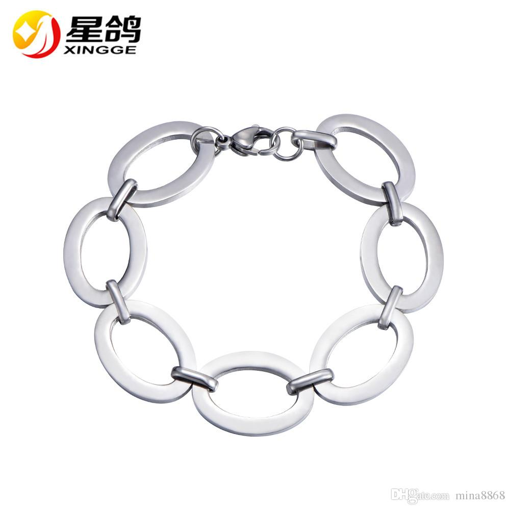 4bc12d1c422 2019 Fashion Accessories Stainless Steel Chain Bracelets Chunky Chain Statement  Large O Shape Chain Bracelet Bangle Wristband Celebrity Jewelry From ...
