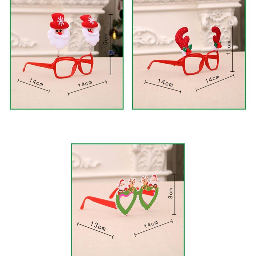 Marco de navidad Gafas Adornos Muñeco de nieve Santa Caus Gafas Adultos Niños Gafas de Sol Regalo de Navidad Decoraciones para Fiestas Accesorios